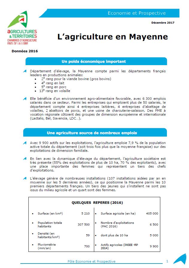 L 39 agriculture en mayenne en 2016 chambres d 39 agriculture - Chambre d agriculture de la mayenne ...